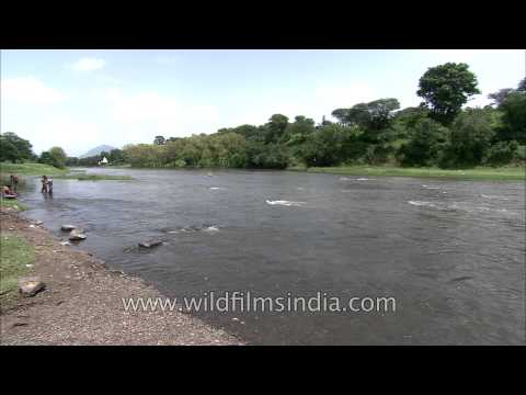 Ganesh ghat on the bank of Krishna river