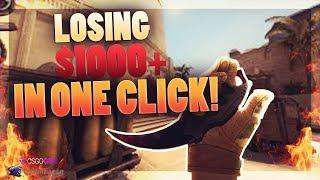 LOSING $1000+ IN ONE CLICK  ( CSGO GAMBLING )