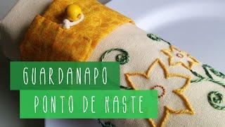 Guardanapo Bordado – Ponto de Haste