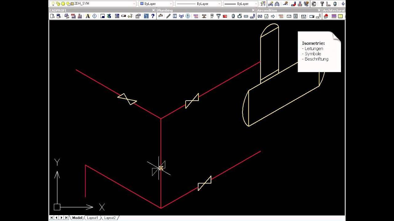 CADprofi HVAC & Piping für Haustechnik und Anlagenbau - YouTube