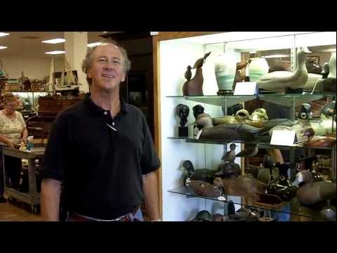 Antique duck decoys in our antiques mall at Gannon's Antiques & Art.