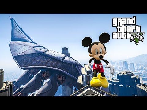 PojzPlaza - มิกกี้เมาส์ผจญภัย GTAV (Mickey Mouse mod)