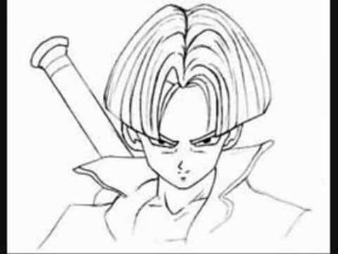 Tk presents learn to draw trunks from dragon ball z youtube