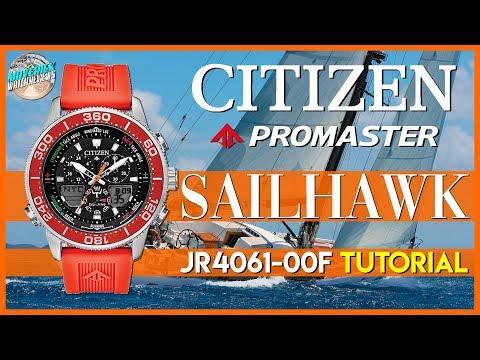 Tutorial! | Citizen Promaster Sailhawk 200m Solar Quartz Diver JR4061-00F Unbox & Review