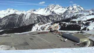 Three Valleys Scenics - extended shots of Courchevel Airport