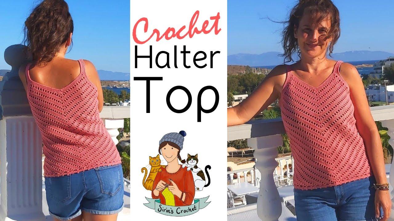 Crochet Summer Lacy Ripple Blouse / Halter Top