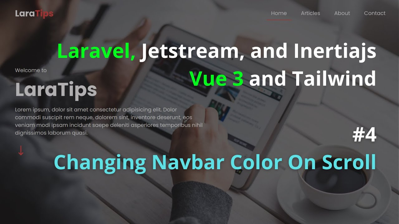 Changing Navbar Color On Scroll Part 4