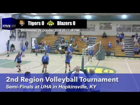 Lady Tiger Volleyball - 2nd Region Tournament Semi-Finals Vs. University Heights Academy - 102616