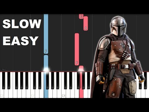 The Mandalorian Theme (SLOW EASY PIANO TUTORIAL)