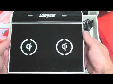 Energizer Qi Inductive Wireless Charger Unboxing