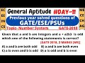 Aptitude for GATE(Day-11)| Previous year solved Questions(Number System)| EC | EE | ME | CS | CE