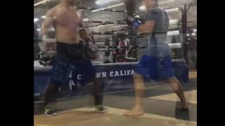 Urijah Faber goes beast mode in training