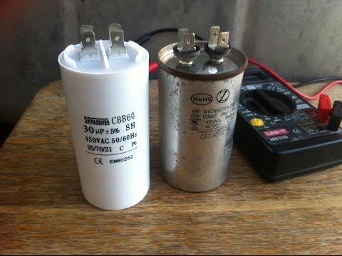Проверка и замена пускового конденсатора в кондиционере