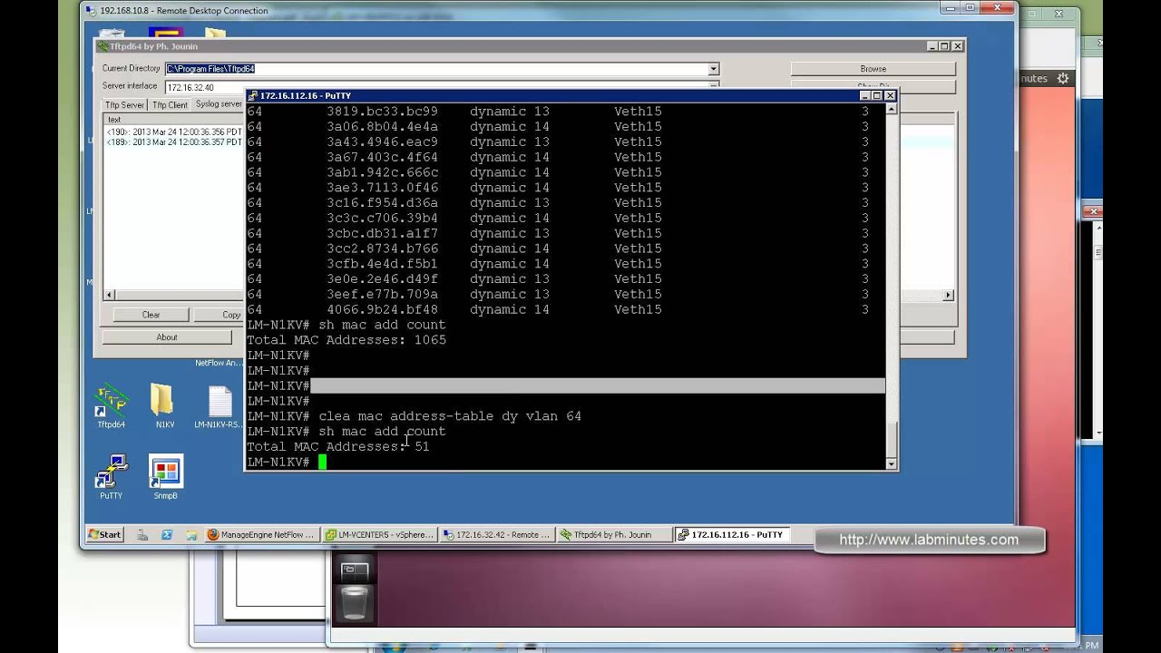 LabMinutes# RS0029 - Cisco Nexus 1000V ACL and Port Security