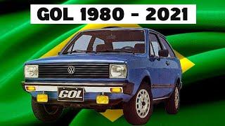 Evolução volkswagen gol - 1980 - 2021
