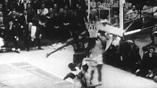 Wilt chamberlain catches a bill russell dunk! g5 nba finals (blocks two dunks in first quarter!)