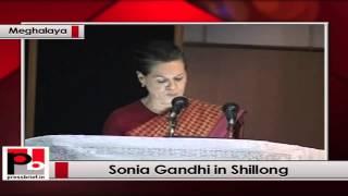 Sonia Gandhi recalls Rajiv Gandhi while inaugurating Medical institute at Shillong