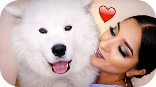 Mein Hund entscheidet mein MAKE UP ⁉️🐶 MY DOG PICKS MY MAKE UP!| Sanny Kaur