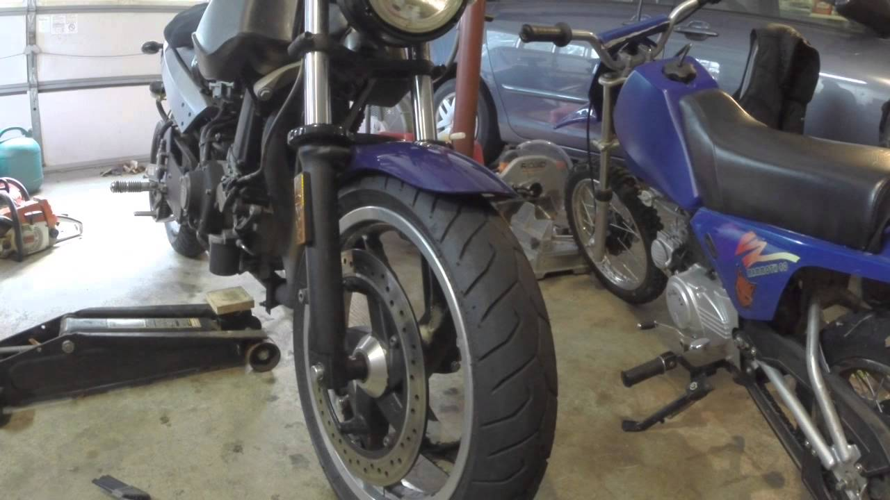 buell blast tire removal how i do it video 1 of 4 - youtube