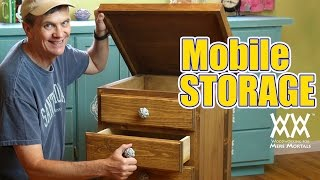 Need A Small Space Storage Solution? Make This Rolling Cabinet