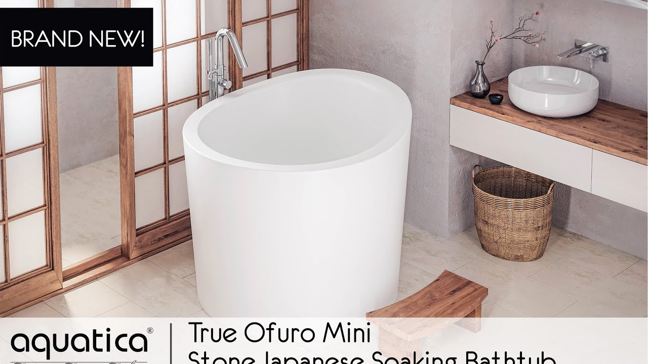 True Ofuro Mini Freestanding Stone Japanese Soaking Bathtub Infomercial 2017