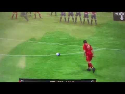 Gol de tiro libre Bayer Munich vs. FC Barcelona PSP
