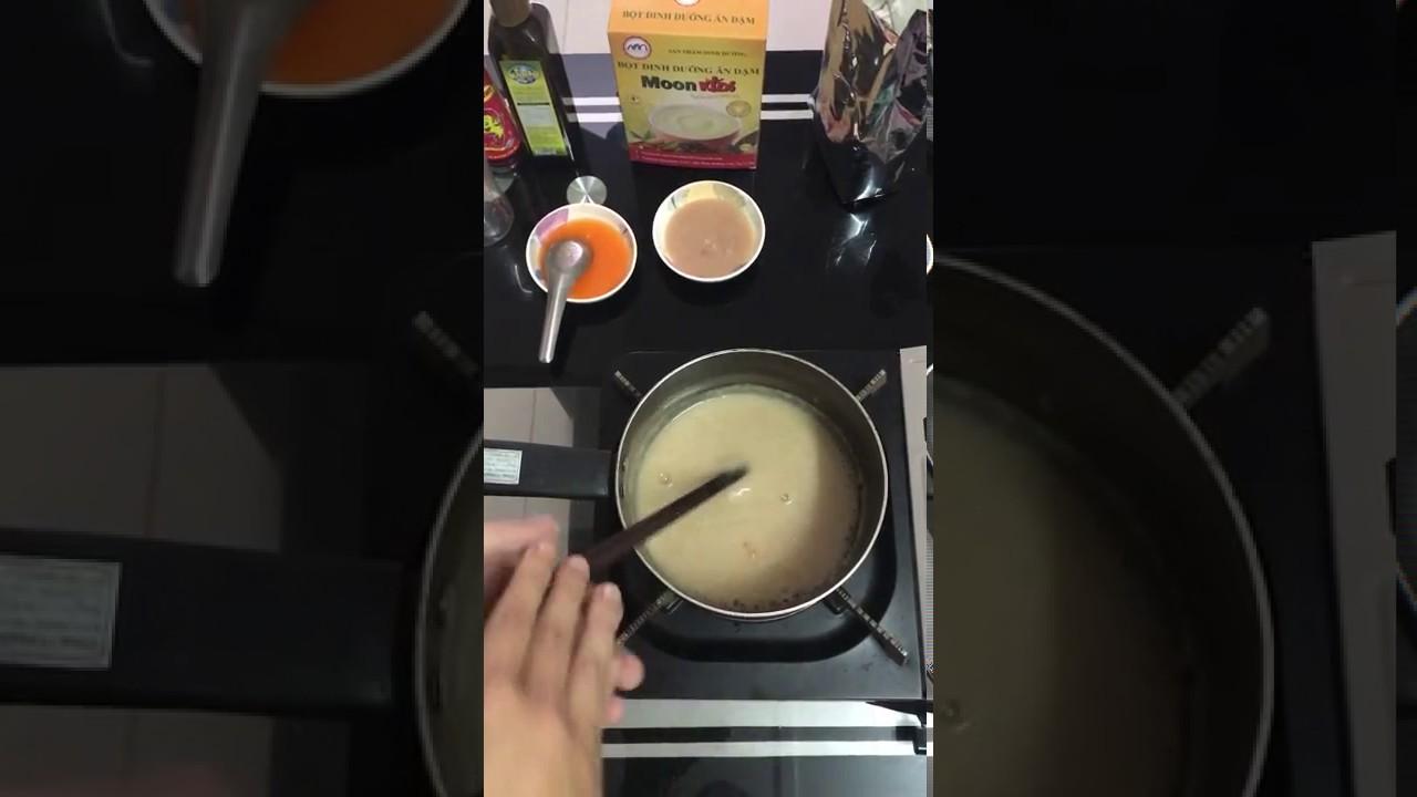 Hướng dẫn nấu bột mặn cho bé