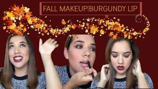 Fall Makeup Look | Burgundy Lip