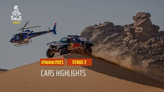 #DAKAR2021 - Stage 2 - Bisha / Wadi Ad-Dawasir - Car Highlights