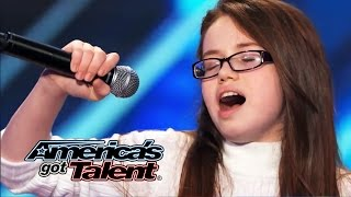 """Mara Justine: 11-Year-Old Sings Powerful Cover From """"Dreamgirls"""" - America's Got Talent 2014"""