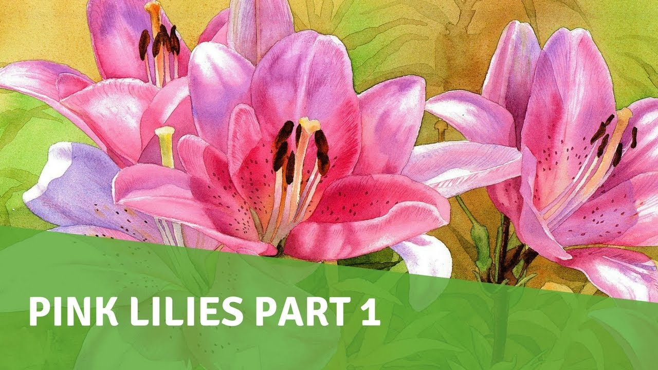 Watercolor painting demo pink lilies part 1 youtube watercolor painting demo pink lilies part 1 izmirmasajfo