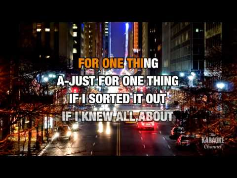 One Thing in the style of Finger Eleven | Karaoke with Lyrics