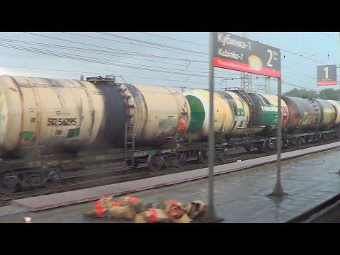 Станция Кубинка 1 и БМО ж/д (из окна электропоезда ЭР2Т-7136)