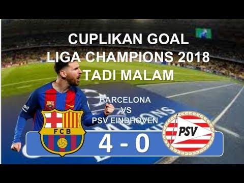 BARCELONA VS PSV TADI MALAM