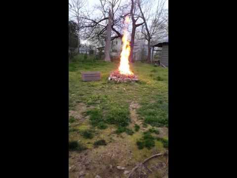 Fire in my back yard