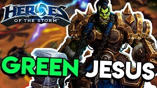 Heroes of the Storm (HotS) | ALL PRAISE GREEN JESUS | Zagara Gameplay ft. Jesse Cox and Sinvicta