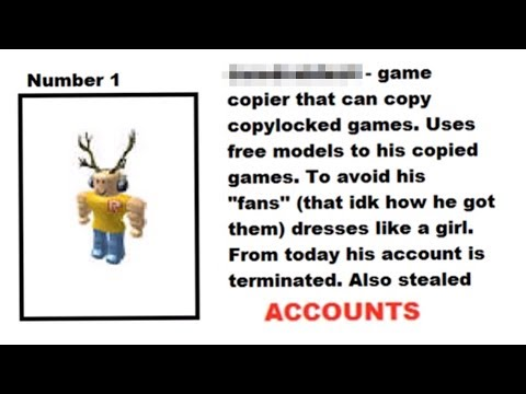 The Most Wanted Roblox Players Hackers Youtube