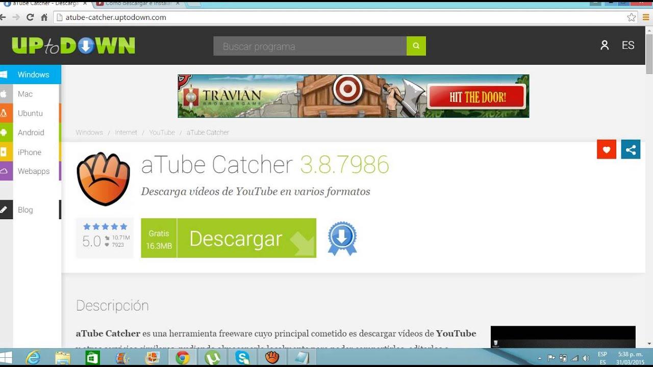 como descargar a tube catcher - YouTube