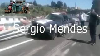 Volcadura de Trailer en la altura de Lerma, Trailer sin frenos
