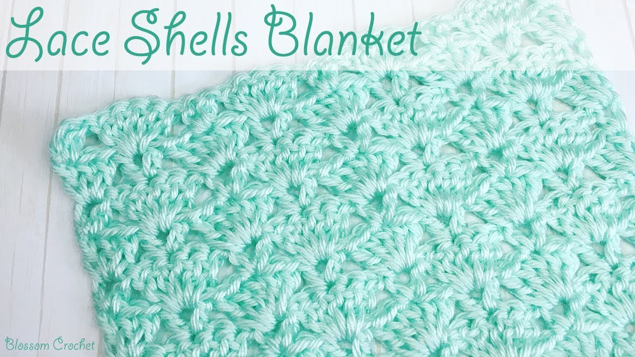 Beautiful Lace Shell Crochet Baby Blanket Scarf Youtube