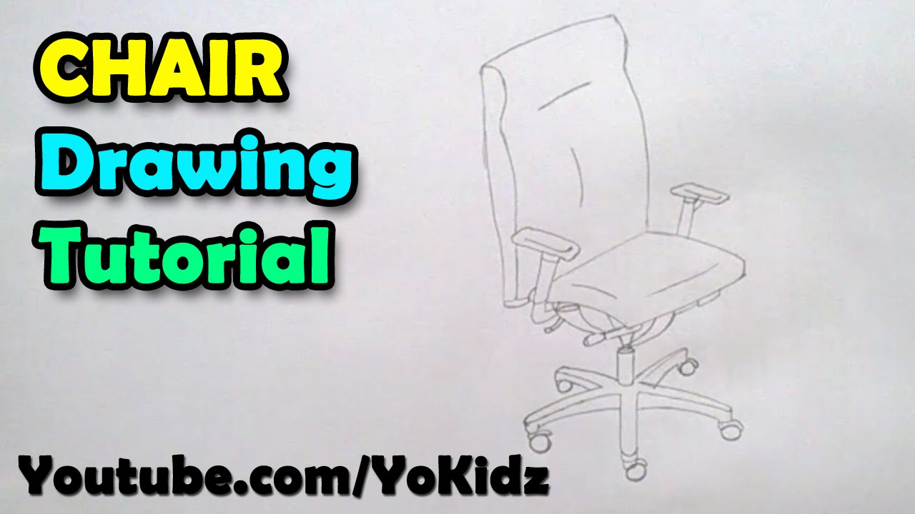 How to draw a chair for office