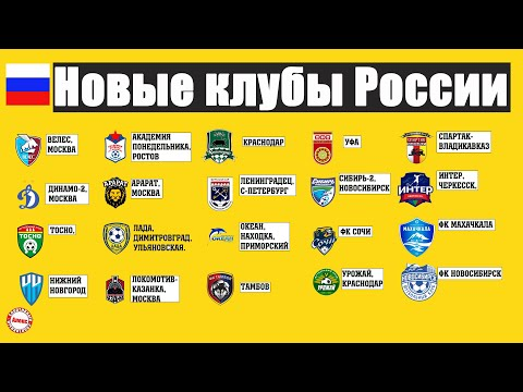 Сколько футбольных клубов основано в России за последние 20 лет?