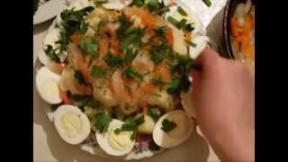 Картошка с яйцом легкий рецепт.