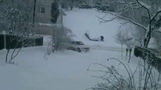 Зимняя дорога домой Джип Гранд Чероки 2006 - Winter road home jeep grand cheroky WK 2006