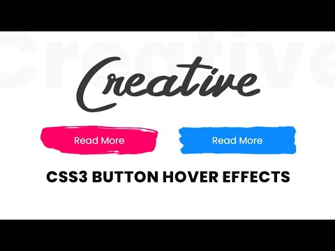 CSS3 Creative Button Hover Effects | Html CSS Tutorial