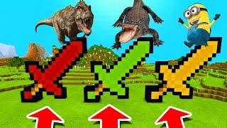 - Minecraft PE DO NOT CHOOSE THE WRONG SWORD Tyrannosaurus, Alligator Minion