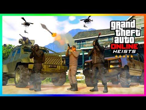 THE LARGEST SECRET UNDERCOVER OPERATIONS RAID IN LOS SANTOS HISTORY - GTA ONLINE HEISTS! (GTA 5)