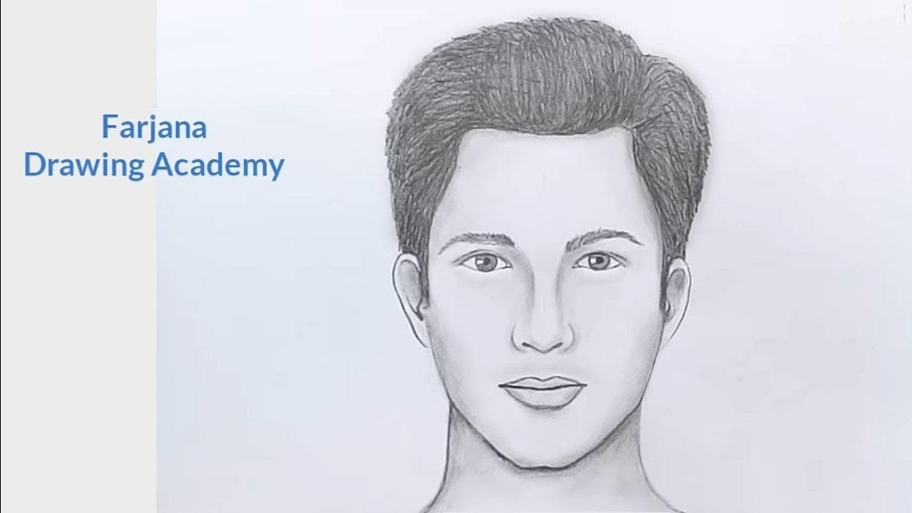 How to draw face for beginners easy way to draw a man face