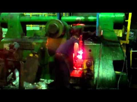 forging on 5 inch upset machine