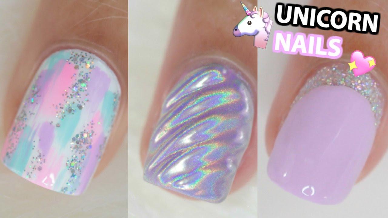 Unicorn Inspired Nail Ideas